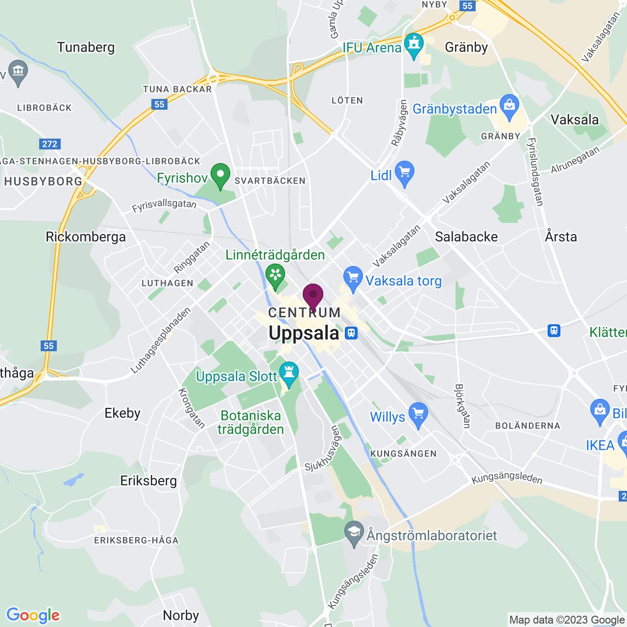 Karta över Dragarbrunnsgatan 36C