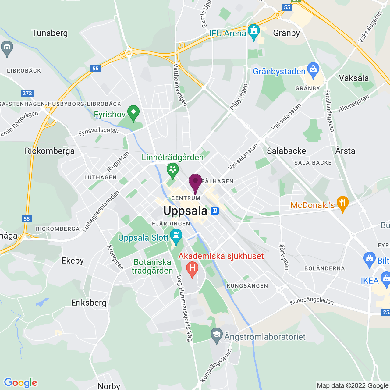 Kort över Kungsgatan 38
