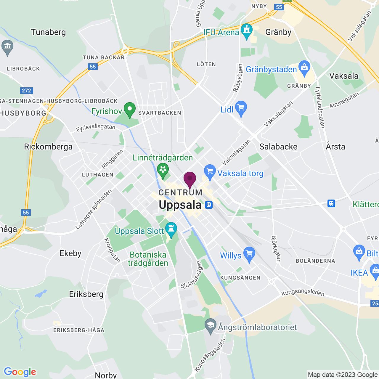 Karta över Kungsgatan 38