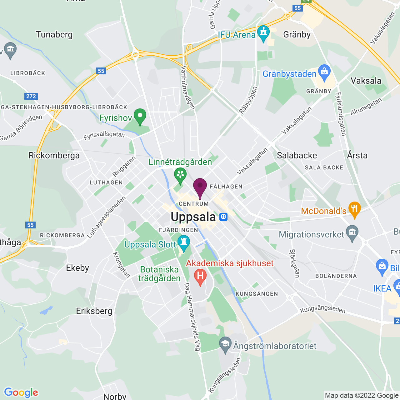 Kort över Kungsgatan 43
