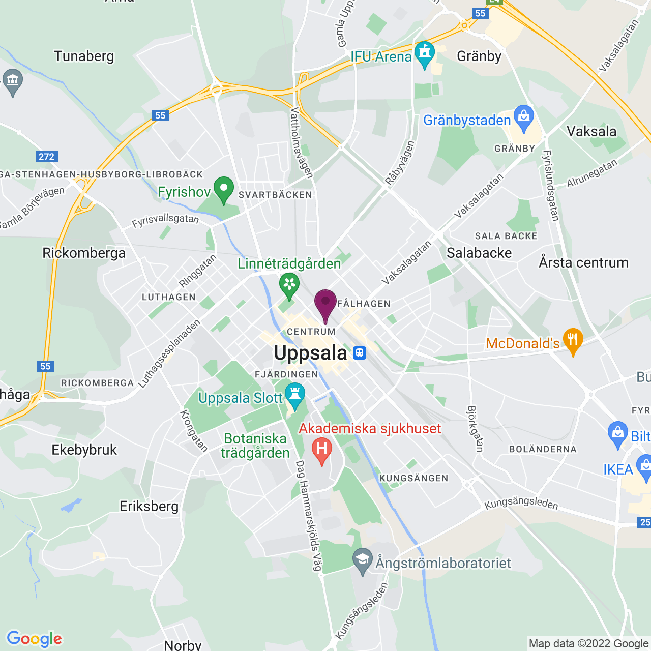 Kort över Kungsgatan 36-40