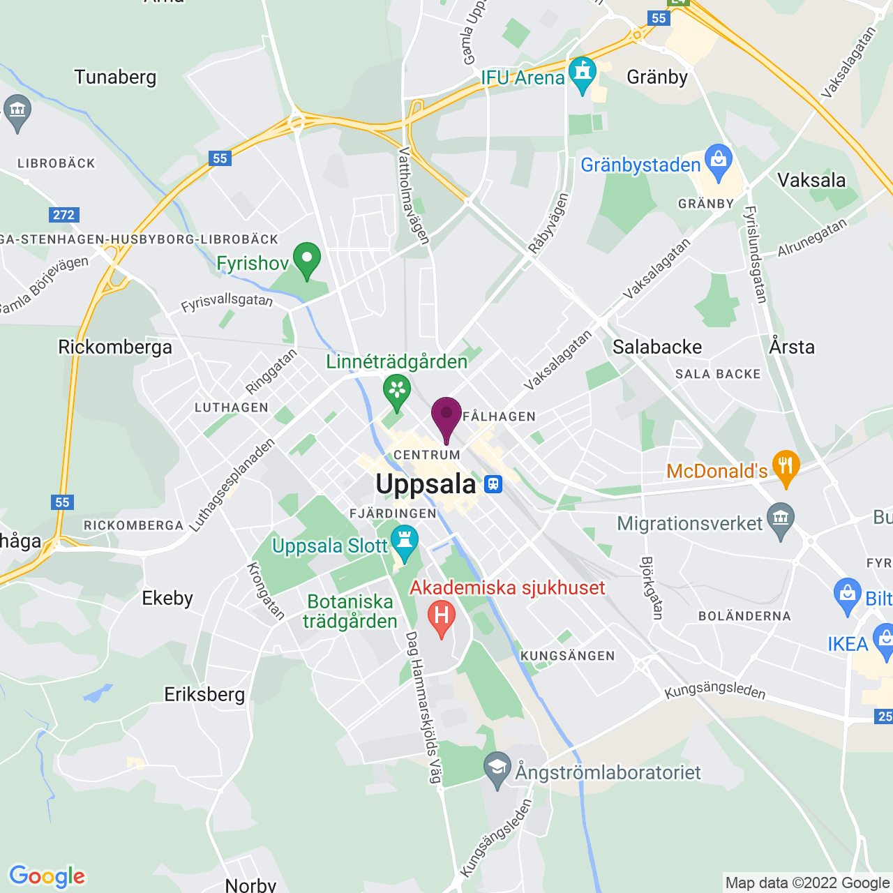 Karta över Kungsgatan 36-40