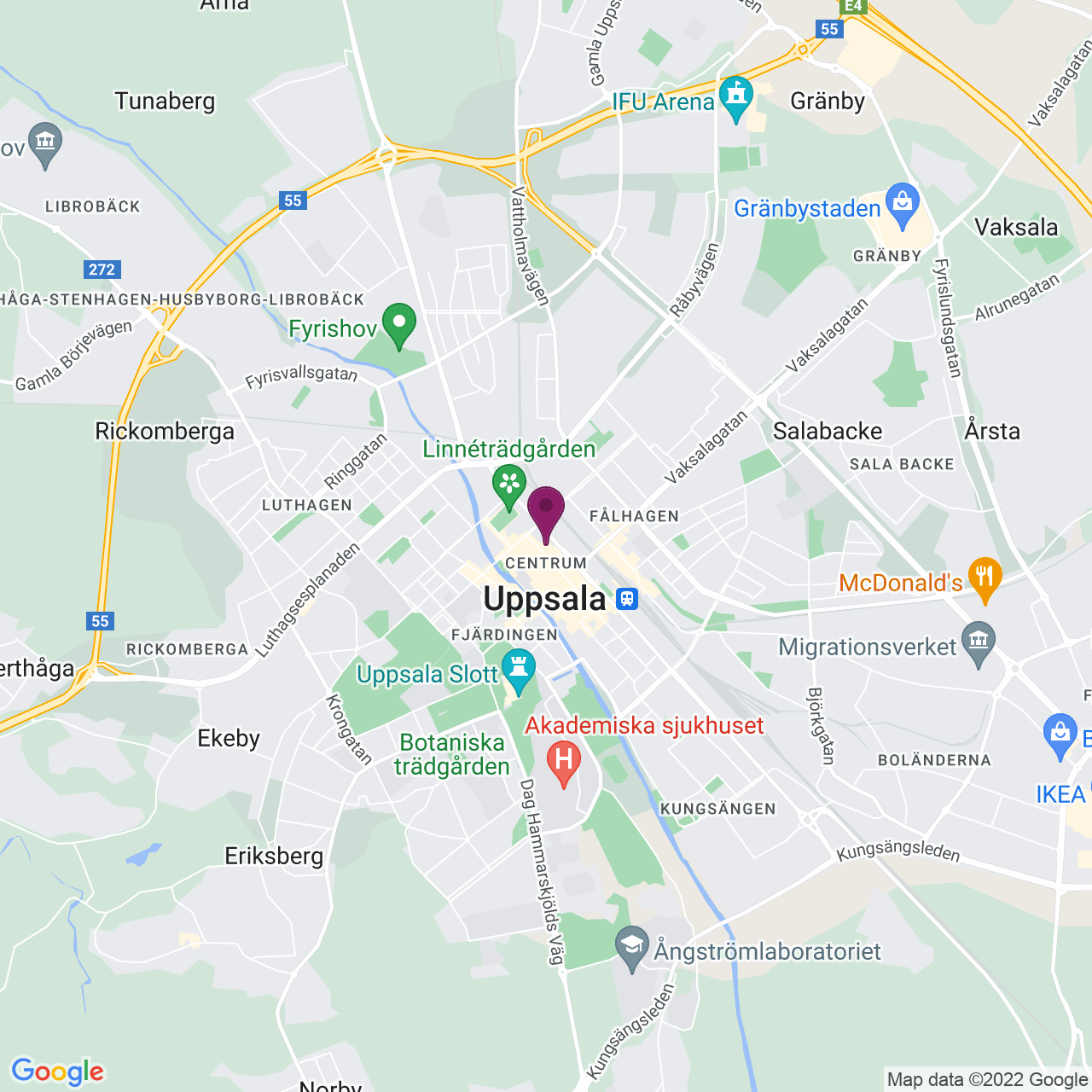 Kort över Klostergatan 13