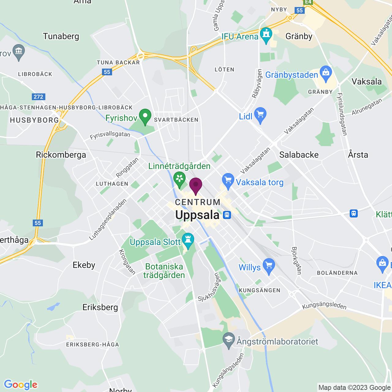 Karta över Dragarbrunns Torg 2-6