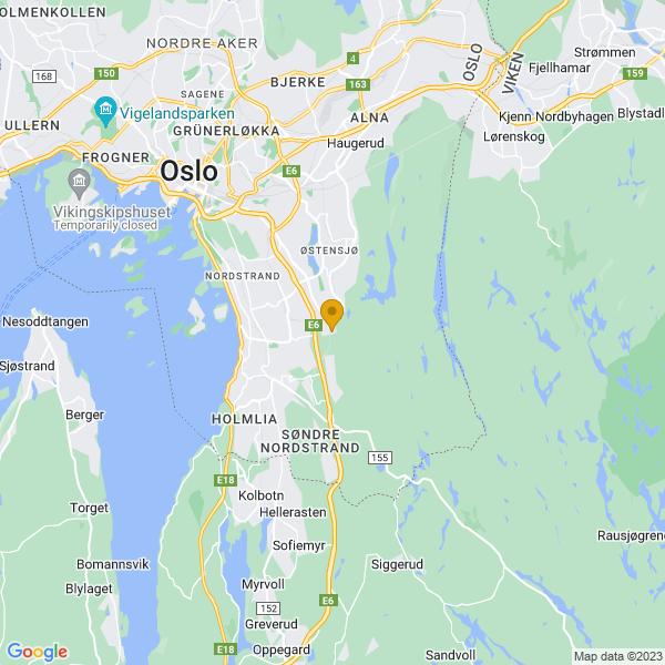 Google Map of 59.8635461,10.8412419
