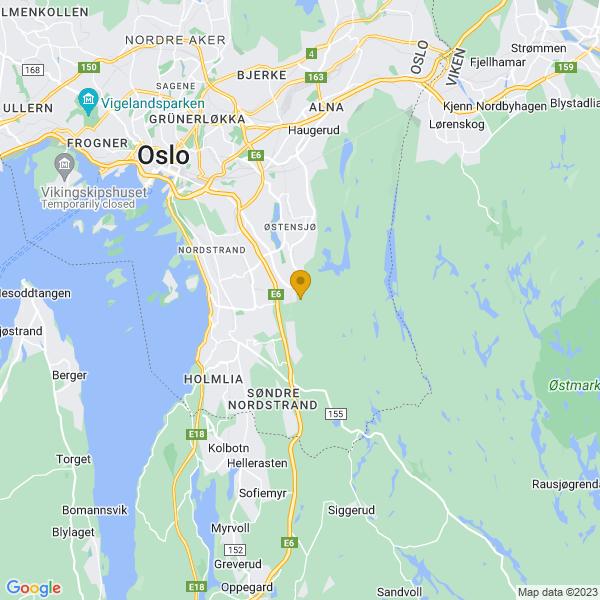 Google Map of 59.86368400000001,10.8463173