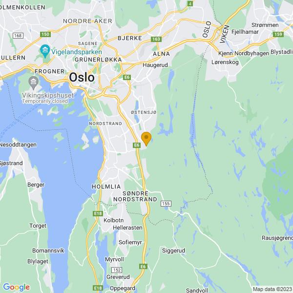 Google Map of 59.86479152196159,10.843352562934019