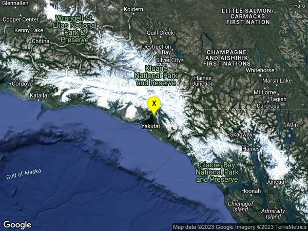 earthquake 36km NNE of Yakutat, Alaska
