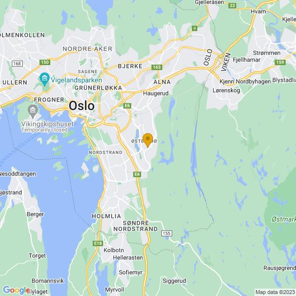 Google Map of 59.88420989999999,10.84481059999996
