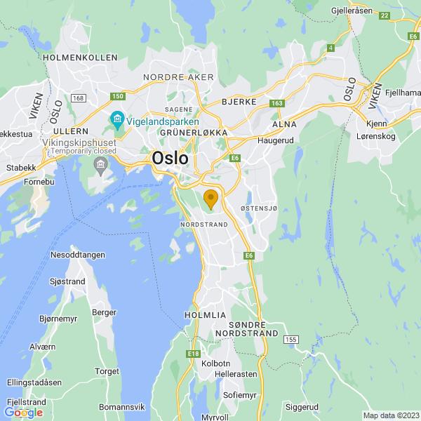 Google Map of 59.888043,10.792180499999972