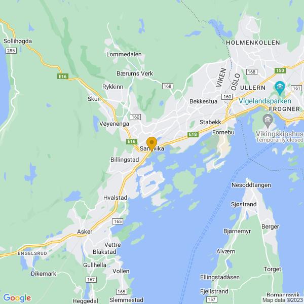 Google Map of 59.8887642,10.5276222