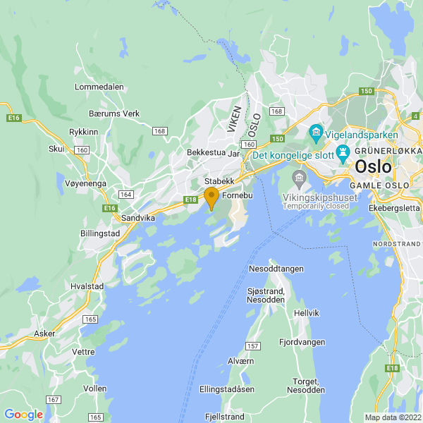 Google Map of 59.89420036020633,10.599216552676323