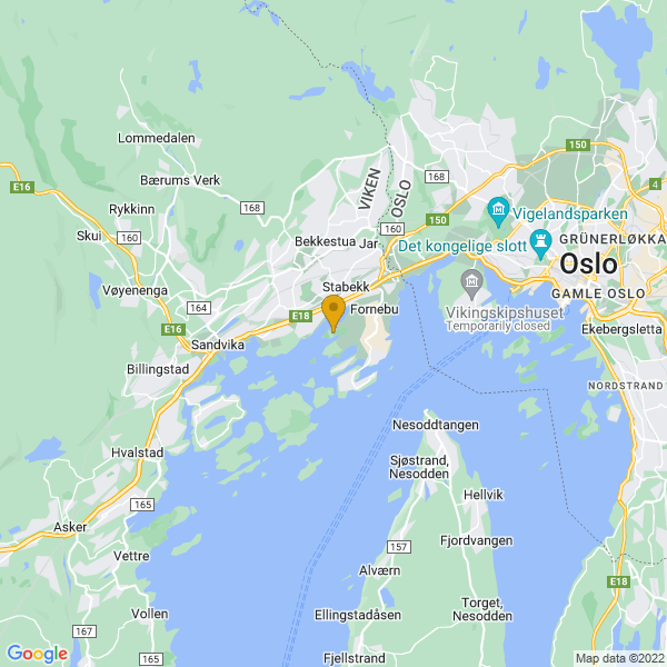 Google Map of 59.89453109999999,10.59915860000001