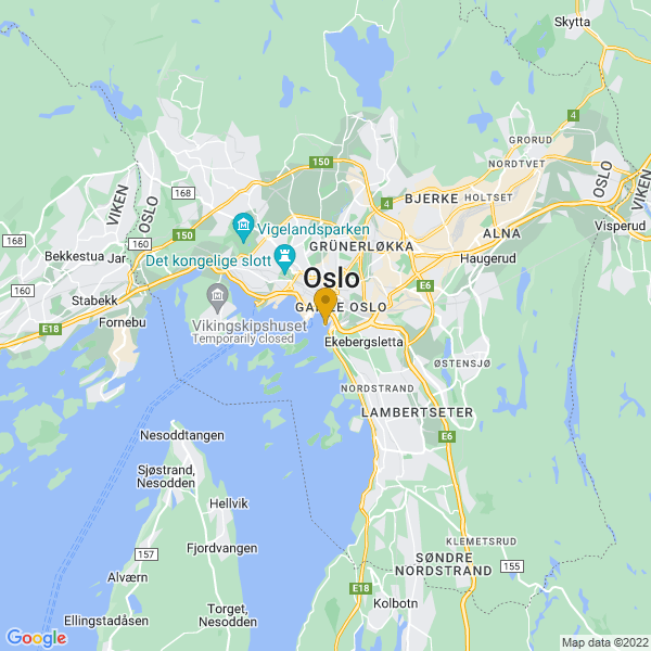 Google Map of 59.901041802328464,10.75252770180187