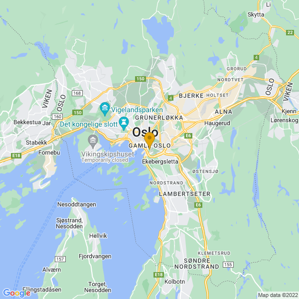 Google Map of 59.9041752,10.762291600000026