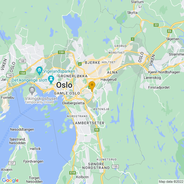 Google Map of 59.90835999999999,10.81861