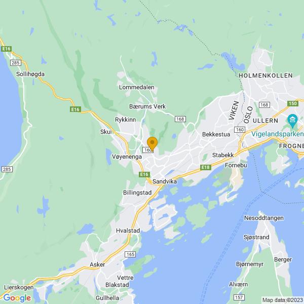 Google Map of 59.91089872588962,10.51070101153373