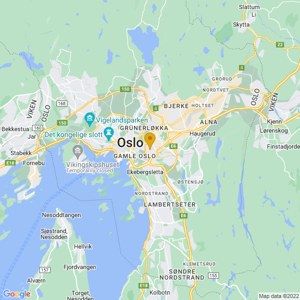 Google Map of 59.9109336,10.7838206