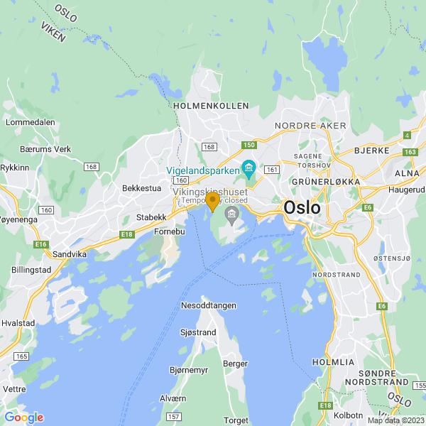 Google Map of 59.9109541,10.6662715