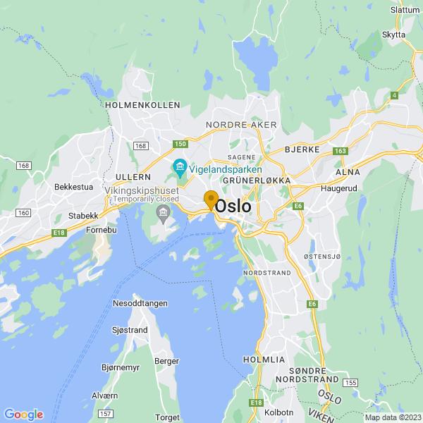 Google Map of 59.91101210000001,10.731271900000024