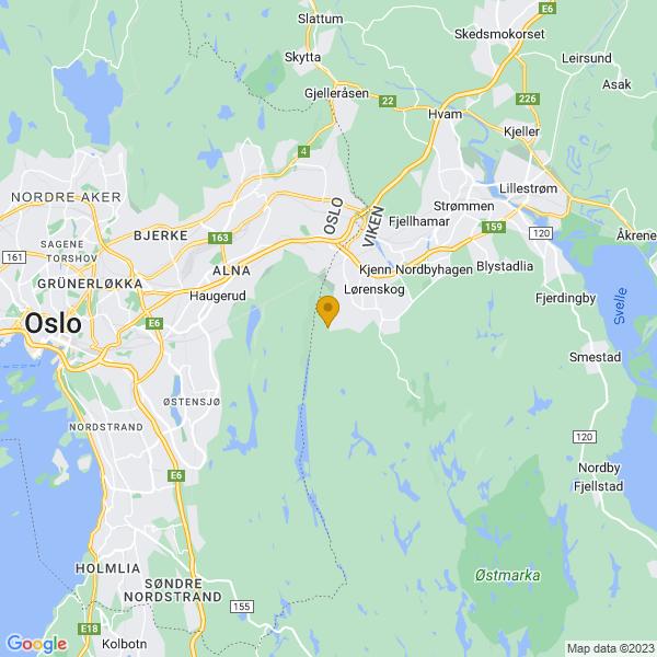 Google Map of 59.9119234,10.9249334