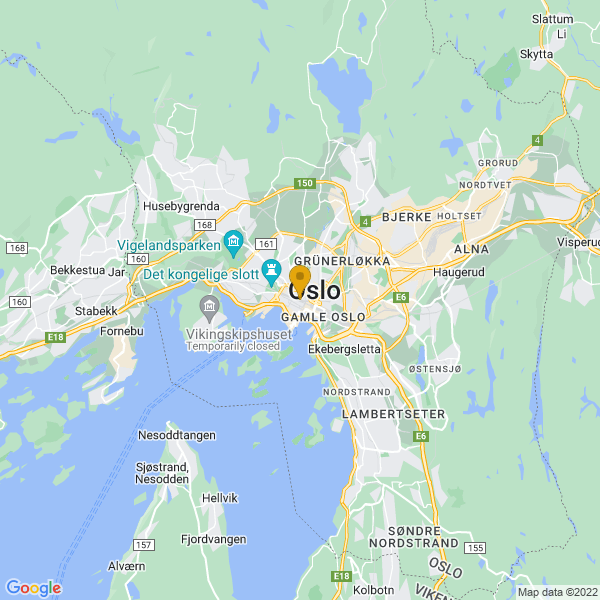 Google Map of 59.91267560000001,10.746452699999963