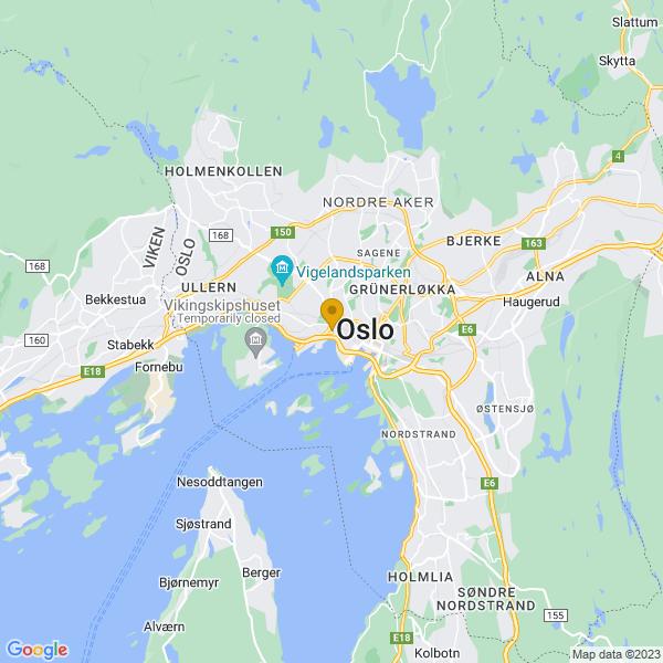 Google Map of 59.9131869,10.731816600000002