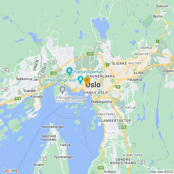Google Map of 59.91322779999999,10.742450299999973