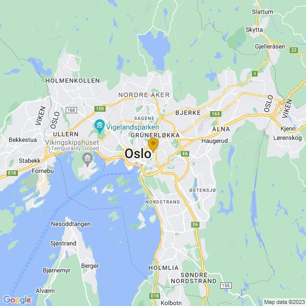 Google Map of 59.9141256,10.7731023