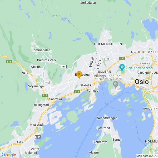 Google Map of 59.917336,10.588927000000012
