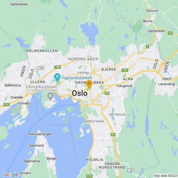 Google Map of 59.918680749612044,10.774286094107763