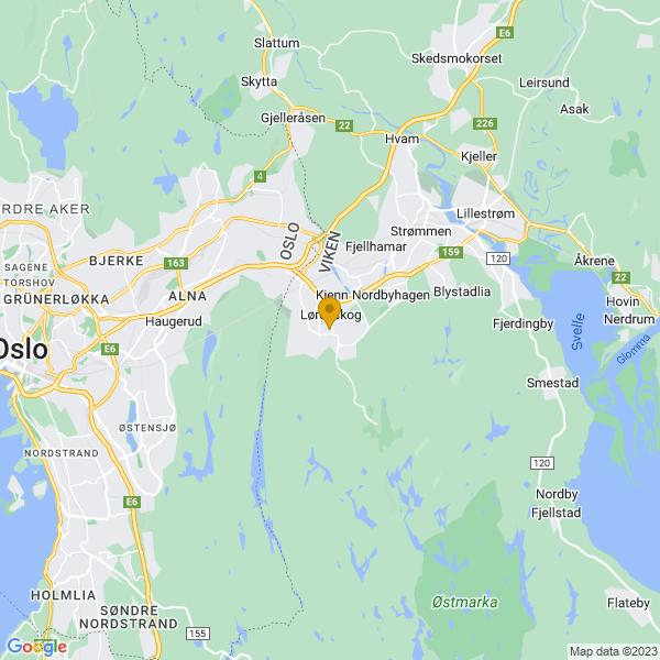 Google Map of 59.91946859999999,10.953142