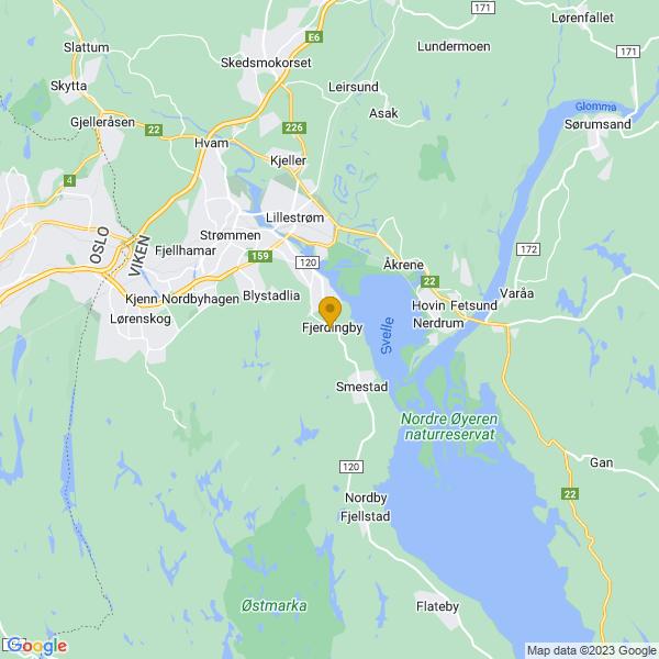 Google Map of 59.92092100000001,11.072339000000056