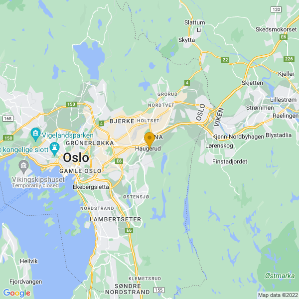 Google Map of 59.9216174,10.8576959