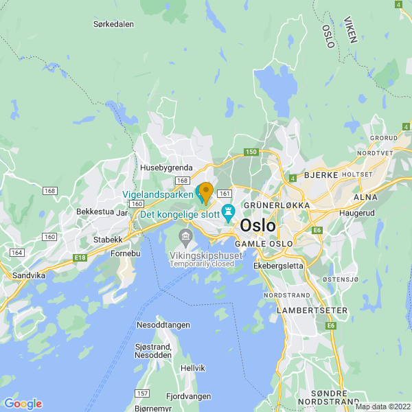 Google Map of 59.925646226343105,10.704717636108398