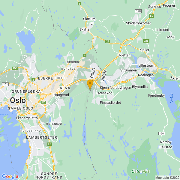 Google Map of 59.9277202,10.9217246