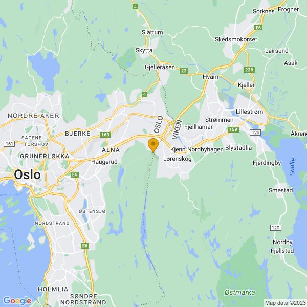 Google Map of 59.92772147931693,10.921719074249268
