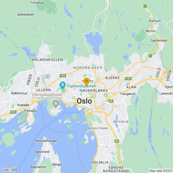 Google Map of 59.9308282,10.757761999999957