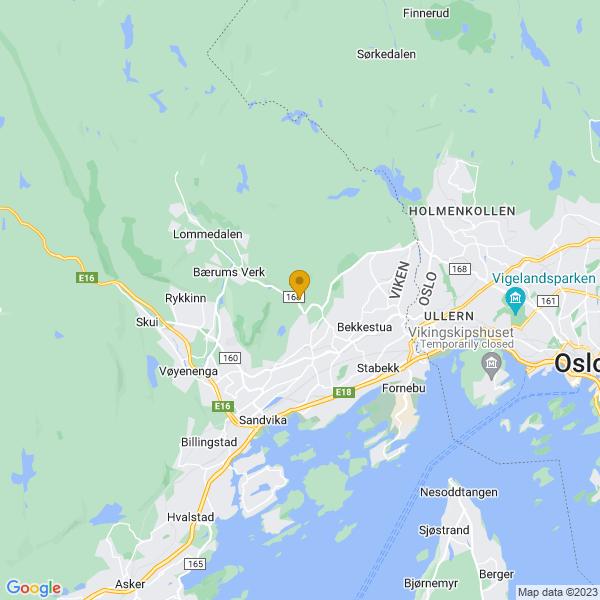 Google Map of 59.9324325,10.5530459