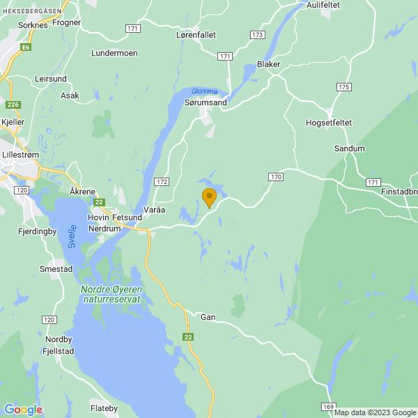 Google Map of 59.93261099999999,11.243187000000034