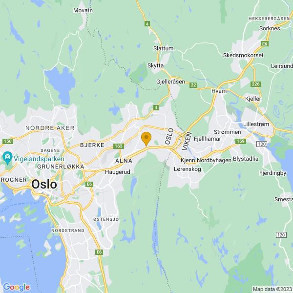Google Map of 59.9402444,10.896357200000011