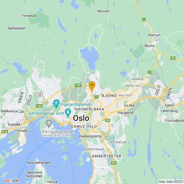 Google Map of 59.94552805602447,10.78086015411673