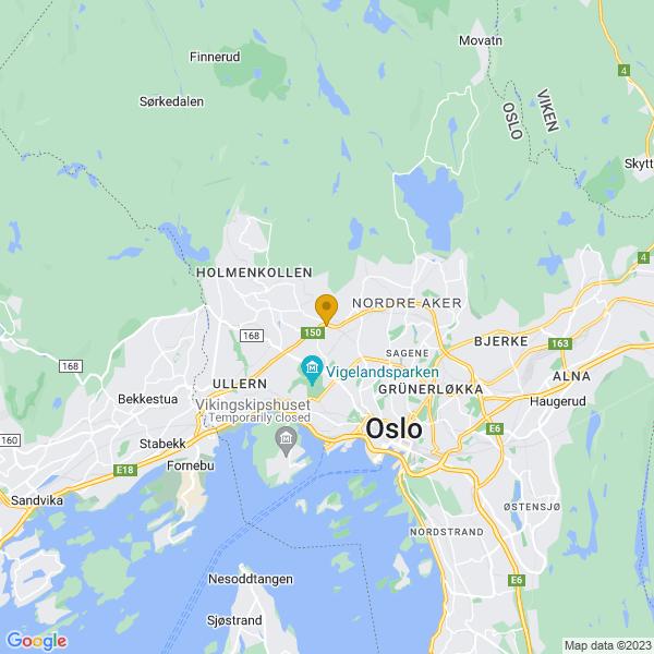 Google Map of 59.9458695,10.7101156