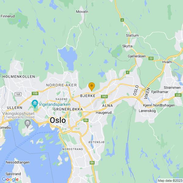 Google Map of 59.94606116609,10.82849417329296