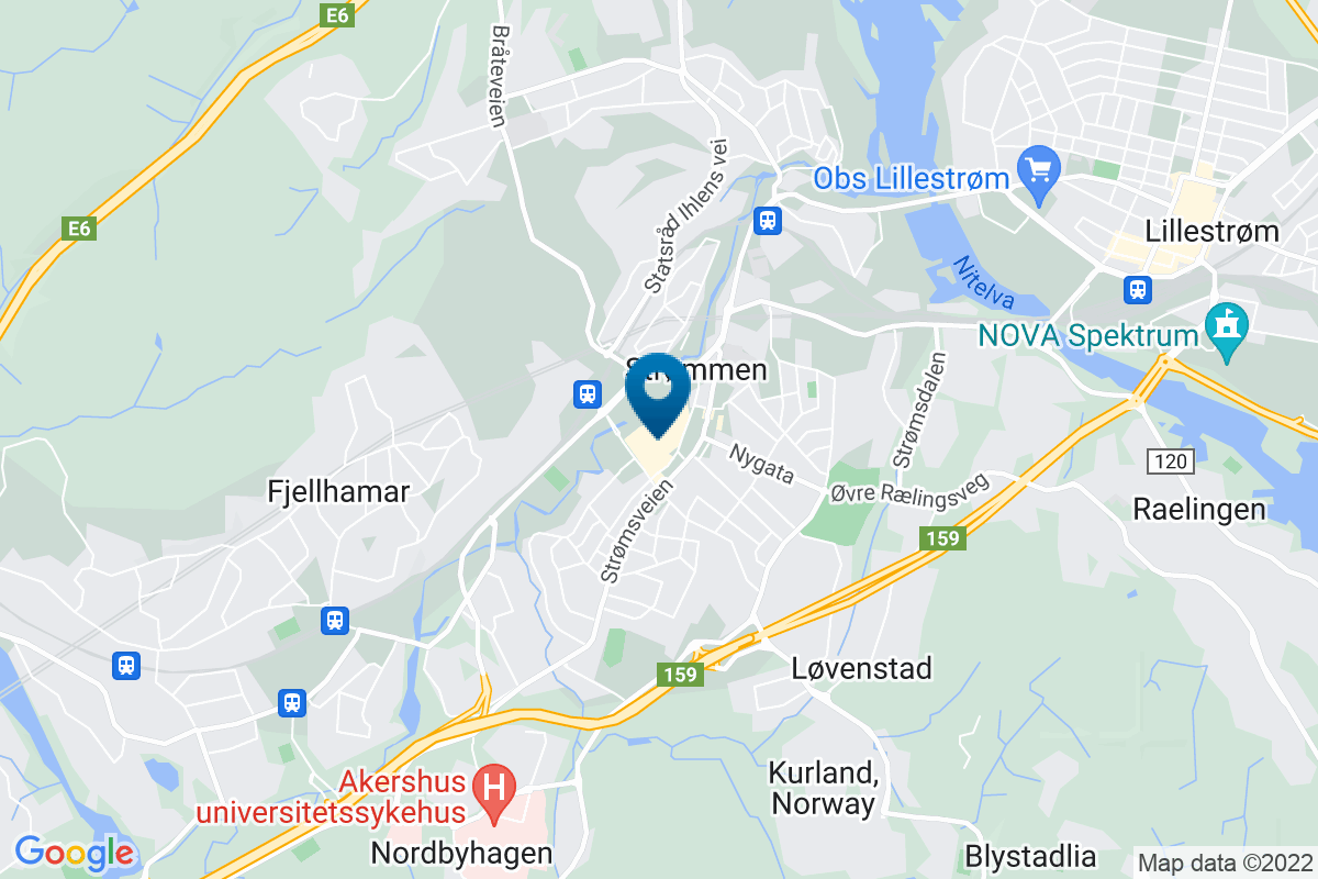 Google Map of 59.9477534,11.00705210000001