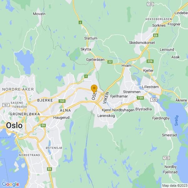Google Map of 59.9480382,10.9273105