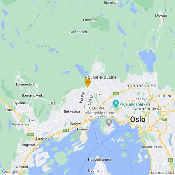 Google Map of 59.95139499999999,10.6341309