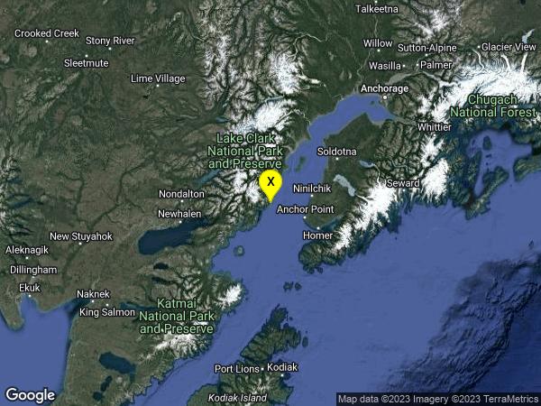 earthquake 51km WNW of Anchor Point, Alaska