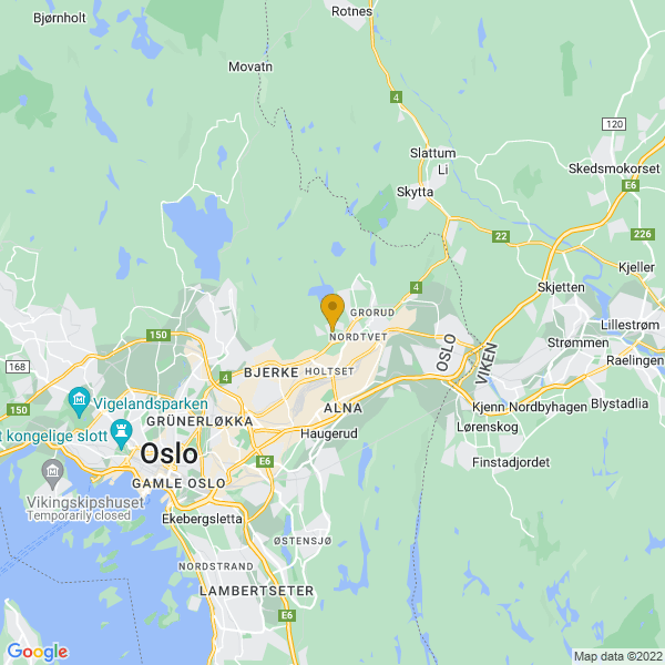 Google Map of 59.95360419999999,10.85758839999994