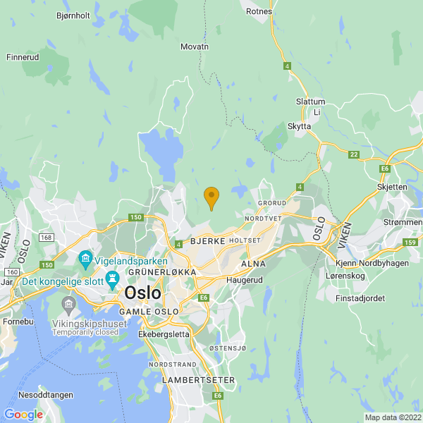 Google Map of 59.95574549999999,10.823741599999948